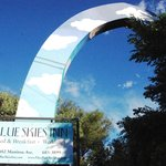 The blue skies arch