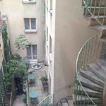 View of the little courtyard from our room!