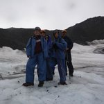 Ready to go on the glacier