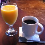 Coffee and juice are excellent!