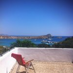 lindos bay view from terrace