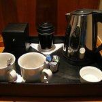 Coffee Making Facilities - we ate the custard creams!