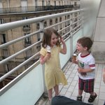 Ice creams from the grocery downstairs on the balcony (fraction of the price from vendors + a vi