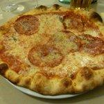 pizza con salamino