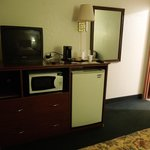 In room TV, refrigerator, microwave, coffee pot