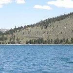 View towards swim beach of June Lake.