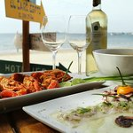 Incredible seafood right on the beach