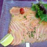 excellent carpaccio de saumon