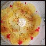 carpaccio de fruits frais caramélisés