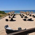 Blick von der Bar auf den Strand