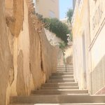 One of the sets of steps we had to climb daily!