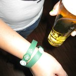 dont lose your bracelet and your buttons otherwise no free beer!