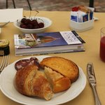 Selectie van het heerlijke ontbijtbuffet