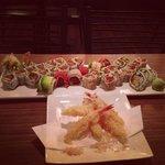 Shrimp tempera and amazing sushi!