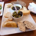 Olives and breads