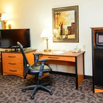 Hampton Inn Houston-Pearland Hotel Rooms with LCD TV, Microwave, and Mini-Fridge