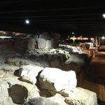 Archeological site under the restaurant