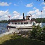 The W. W. Durant cruise boat on Lake Raquette