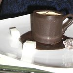 Coffee mousse in chocolate cup dessert