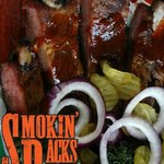 Fall off the bone slow smoked pork ribs - St Louis Style