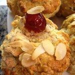 Cherry & Almond homemade scone