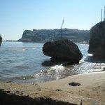 Parte della spiaggia di Peschici