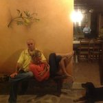 Marco and Gaiva relaxing with us after dinner