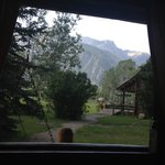 """View from bed in cabin """"Sage"""""""