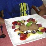 Mousse al cioccolato (with fruits)