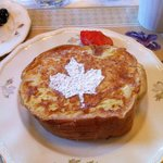 Maple stuffed french toast for breakfast.. yummy!