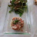 Tartare de bar et saumon