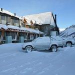 El Hotel despues de una linda nevada