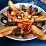 Delicious seafood entree!