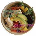 Gluten free energy bowls