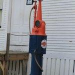 Old fashioned gas pump