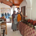 here is me and mama and 9 curries and dishes that we made