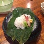 Raw squid noodles - delicious!