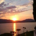 Solnedgången från restaurangen