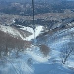 View from carriage on slopes
