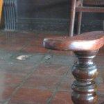Broken tile in Mountbatten's bar