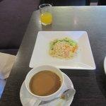 Mum's vegetarian fried rice breakfast