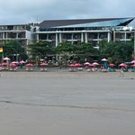 Hotel seen from beach