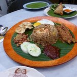 nasi goreng - big enough for two to share!