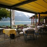 View from dining area over lake Brienz