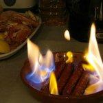 Flaming Sausages!