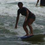 my daughter surfing