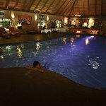 Indoor heat pool, great!