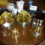 Relaxing herbal tea! love the teapots!