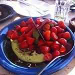 Cherry Tomato Salad and Green Tehini