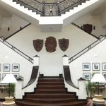 Staircase in the hotel,leading to the awesome restaurant